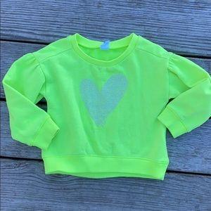 Gap size 3 year girls neon yellow sweatshirt